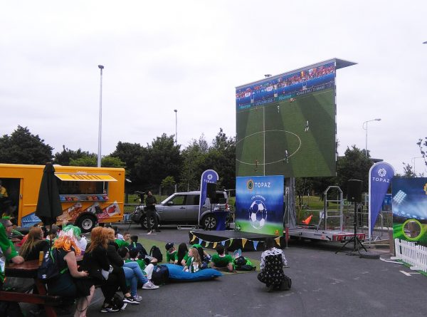 event fanzone big screen hire
