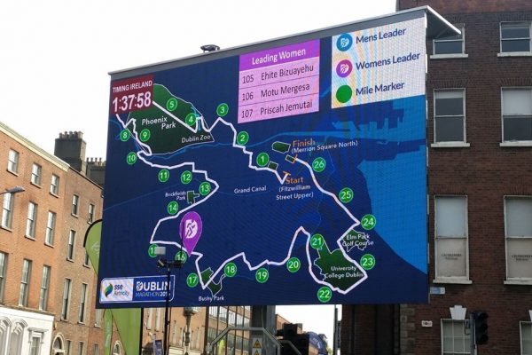 gps tracking big screen hire